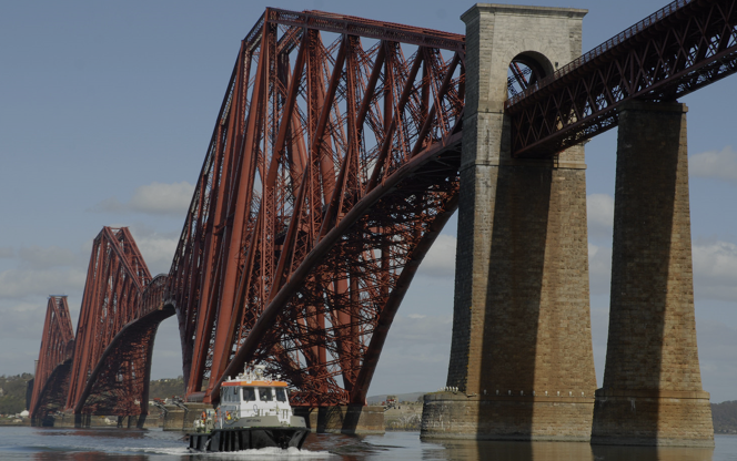 The Forth Bridge - from Hawes Pier, South Queensferry.