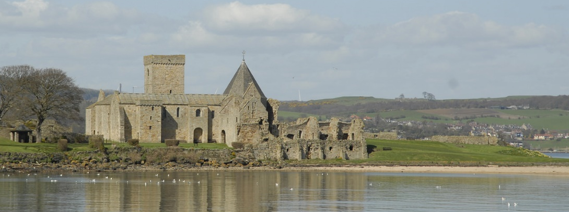 Inchcolm Abbey from the sea.